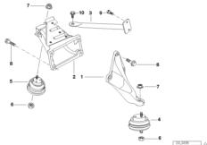 Каталоги запчастей on-line/ BMW 5' E39 Подвеска двигателя и КПП.